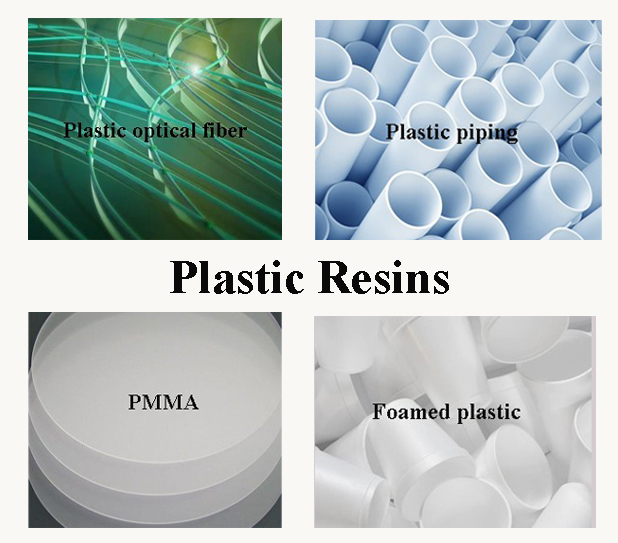 Application of plastic resins.